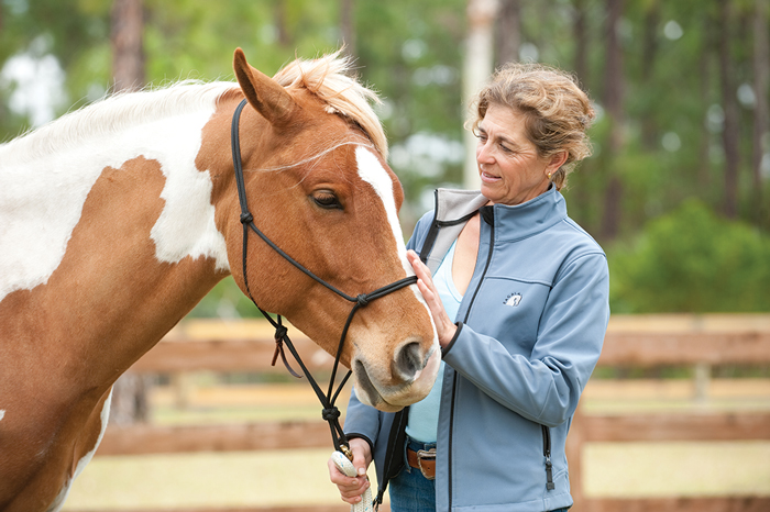 Lady with Horse Equine Therapy