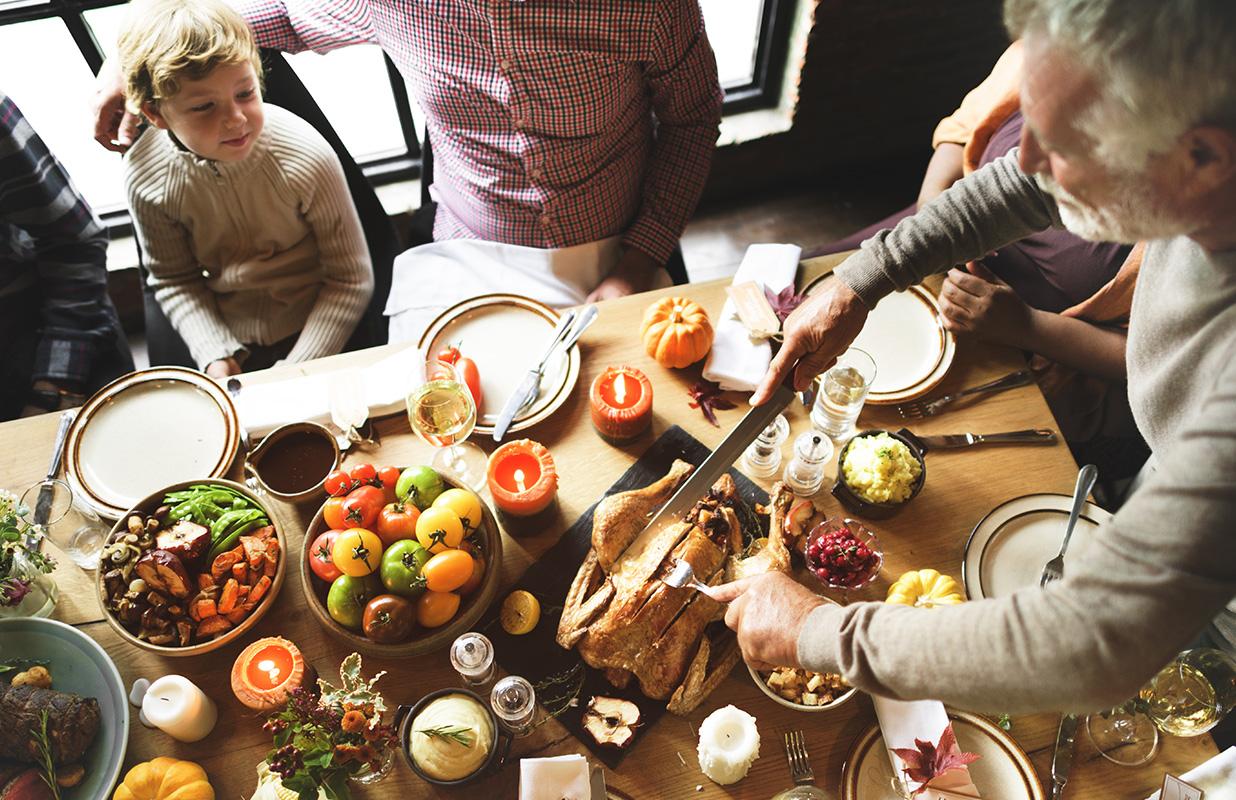 Thanksgiving feast sober