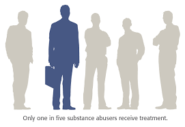 silhouette of five generic men with one highlighted who is a executive holding a briefcase